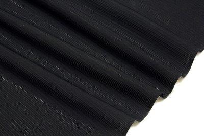 画像2: ■「老舗:京都紋付謹製」 五泉 日本の絹使用 クリスタルガード加工済み 石持ち 黒色 夏物 駒絽 反物 正絹 最高級 喪服■
