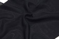 画像3: ■「伝承 紅三段黒」 五泉 日本の絹使用 浜ちりめん生地 石持ち 黒色 夏物 駒絽 反物 正絹 最高級 喪服■ (3)