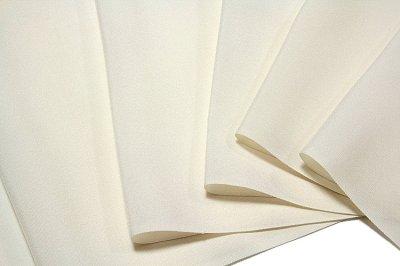 画像1: ■「お好みの色に染める-白生地」 五泉 日本の絹使用 白色 夏物 紗 高級 反物 正絹 色無地■