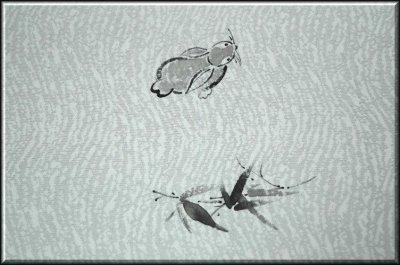 画像3: ■墨絵風 手描き 夏物 九寸 紗 太鼓柄 名古屋帯■
