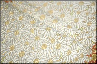 画像3: ■山口美術織物謹製 献上春菊文 唐織錦 袋帯■