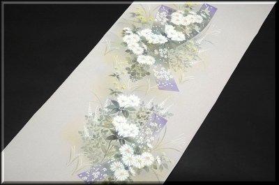 画像1: (訳ありアウトレット品)■フルオーダー手縫い仕立て付き 手描き 銀彩金彩加工 付下げ■