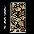 [和楽屋] ◆「龍村美術織物-雪輪松竹梅」 黒地に金 たつむら 最高級品 正絹 袋帯◆