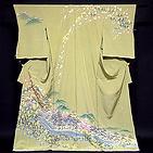 [和楽屋] ◆作家物 落款 「壮大な風景図」 浜ちりめん 訪問着◆
