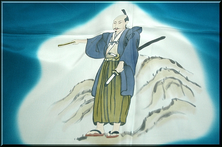 画像1: ■男物 織田信長「天下布武」 絵羽 長襦袢■ (1)