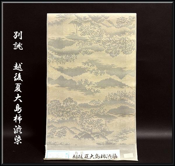 画像1: ■別誂 越後夏大島柿渋染 正絹 夏物 紬■ (1)