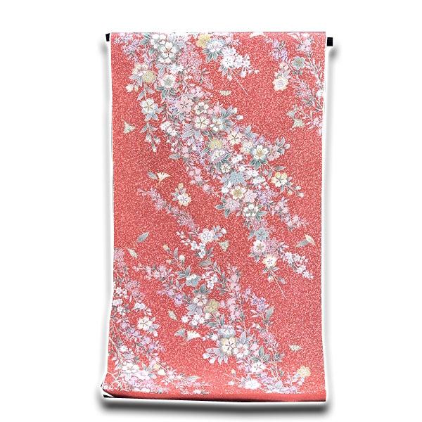 画像1: ■タタキ染め 見事な花模様 オシャレ 正絹 小紋■ (1)