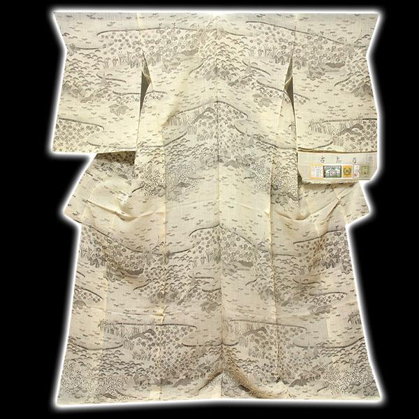 画像1: ■「本場小千谷紬織物-古志乃」 大新織物 茶屋辻之図 夏物 訪問着■ (1)
