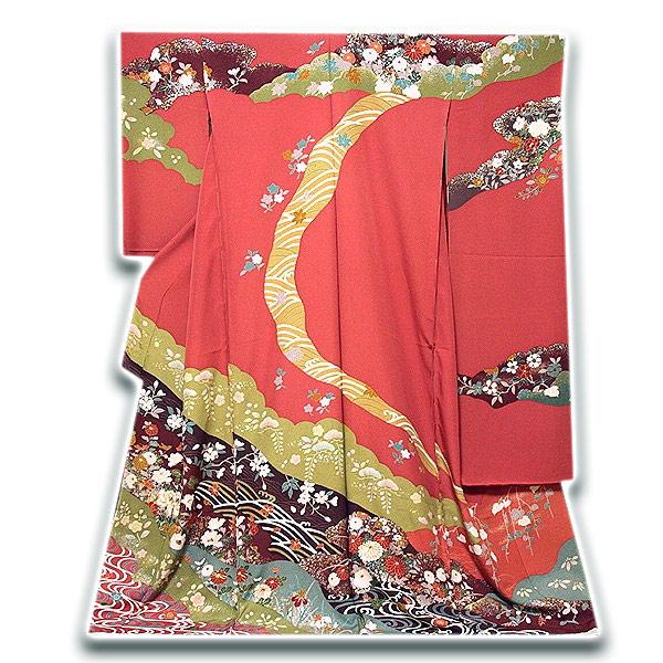 画像1: ■染め分け 金駒刺繍 金彩加工 たたき染め 華やかで豪華な 振袖■ (1)