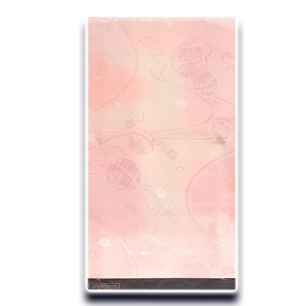画像1: ■「高級-振袖用」 可愛らしい マリ柄 振りボカシ 正絹 長襦袢■ (1)