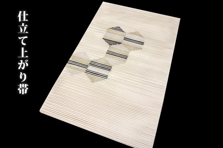 画像1: ■「正絹」 夏物 絽つづれ オシャレ 平仕立て 仕立て上がり 八寸 名古屋帯■ (1)