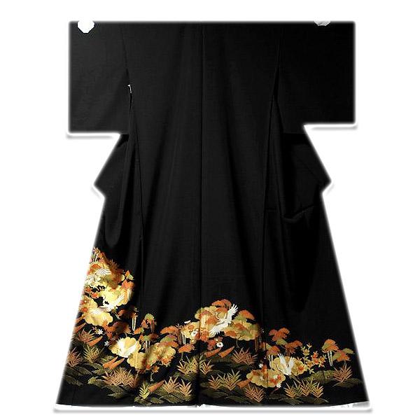 画像1: ■手縫いお仕立て付き! 豪華な金彩加工 吉祥文様 黒留袖■ (1)