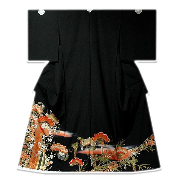 画像1: ■手縫いお仕立て付き! 典麗らでん 金彩加工 黒留袖■ (1)