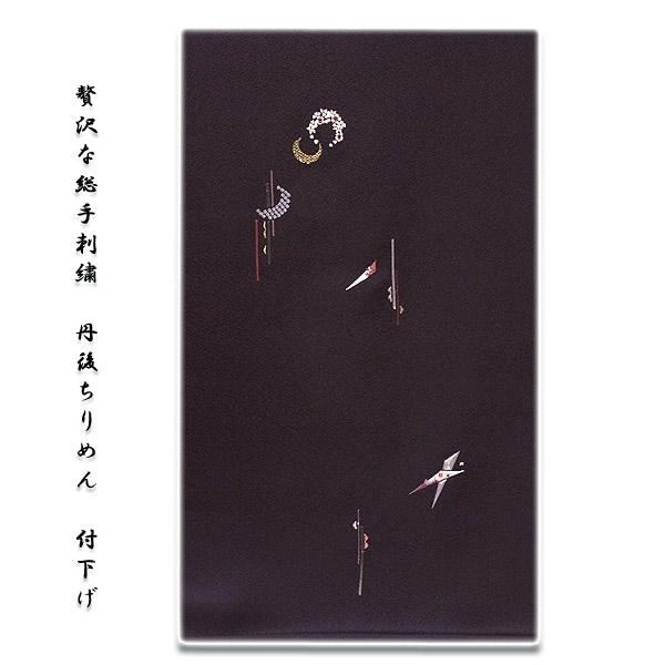 画像1: ■「贅沢な総手刺繍」 柄全てが手刺繍 丹後ちりめん 正絹 付下げ■ (1)