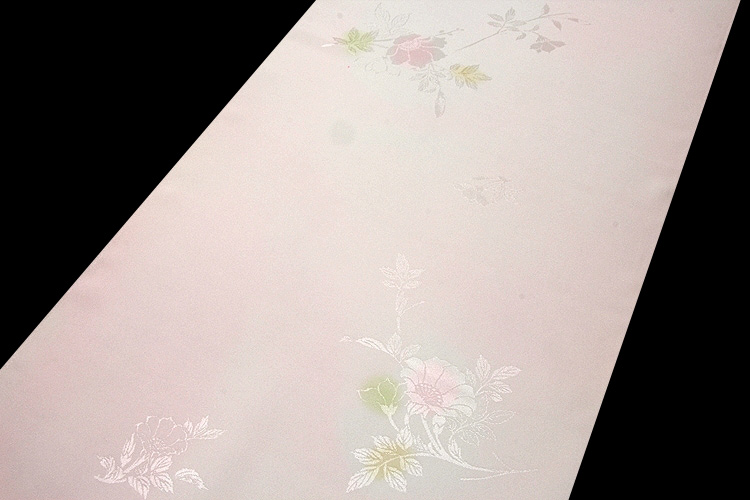 画像1: ■【訳あり】美しい花柄にボカシ染め 玉ゆら 丹後ちりめん 正絹 長襦袢■ (1)