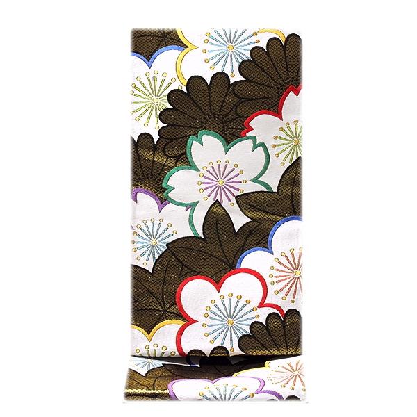 画像1: ■【お仕立て付き 帯芯代込み】【訳あり】「京都:細尾」 振袖に最適 黒地に金糸 正絹 袋帯■ (1)