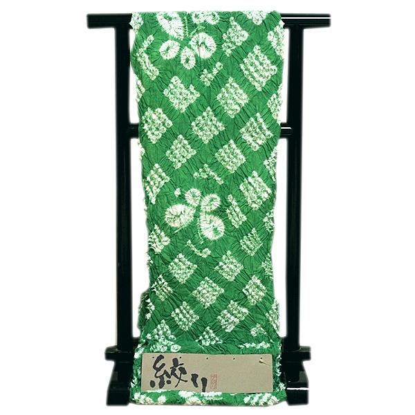 画像1: ■【絞りゆかた】 手絞り 薄緑色 オシャレ 贅沢で細やかな 総絞り 最高級 浴衣■ (1)