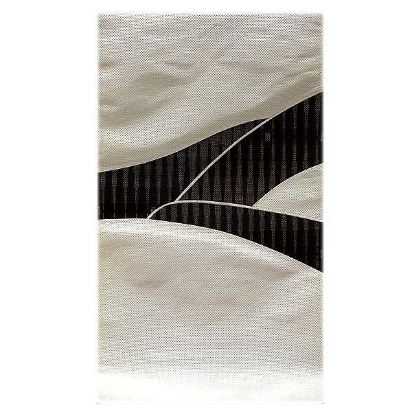画像1: ■「伝統技法:きりばめ」 切嵌め パッチワーク風 絣模様 浮き織り 正絹 九寸 高級 名古屋帯■ (1)