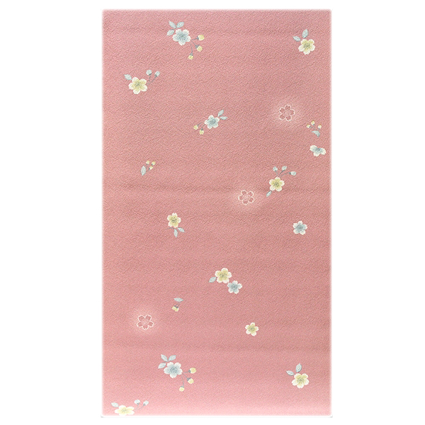 画像1: ■桜ボカシ染め 上品な 高級ちりめん生地使用 オシャレ 正絹 小紋■ (1)