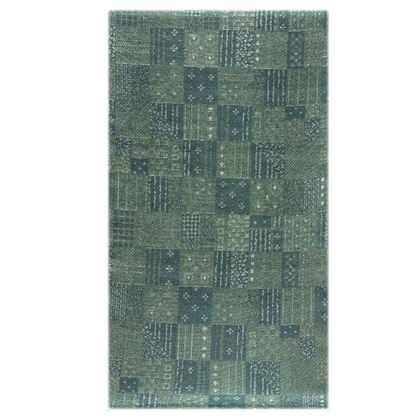 画像1: ■市松模様 高級ちりめん使用 細やかでオシャレな 正絹 小紋■ (1)