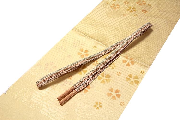 画像1: ■「正絹 夏物 絽」 華やかでオシャレな 帯揚げ 平組 帯締め セット■ (1)