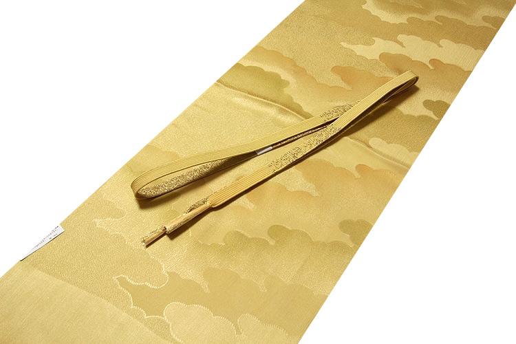 画像1: ■「正絹」 ボカシ染め オシャレな 帯揚げ 平組 帯締め セット■ (1)