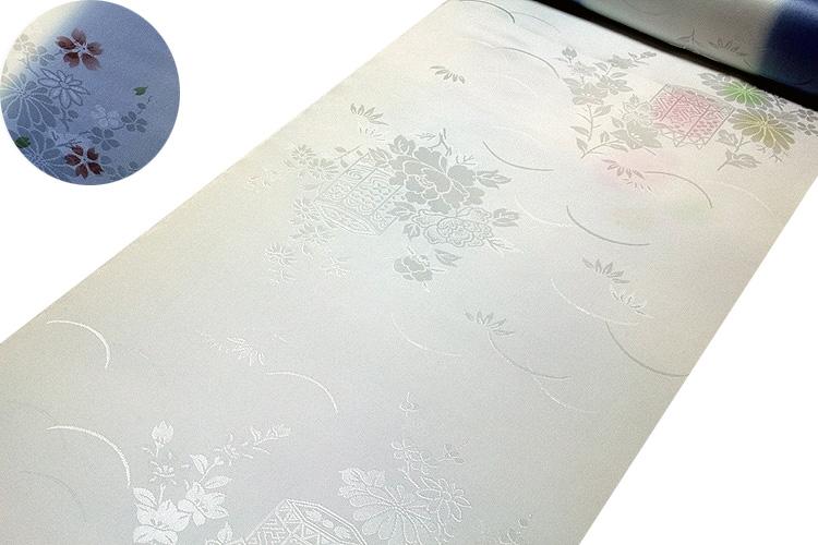 画像1: ■「振袖用」 振りボカシ 袖ボカシ 桜柄 花模様 ボカシ染め 反物 正絹 長襦袢■ (1)
