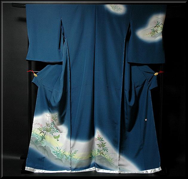 画像1: ■手縫い仕立て付き ぬれ描友禅作家 「高檀元」作 訪問着■ (1)